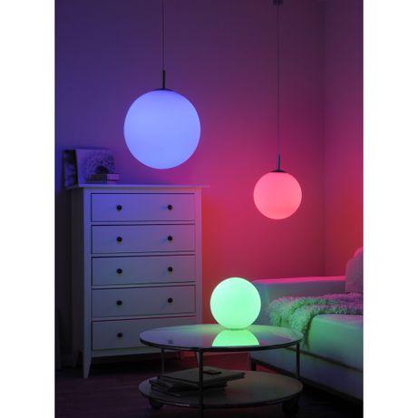 Lampka nocna biała kula LOLA-BOLO RGBW pilot ciepłe zimne ściemniacz