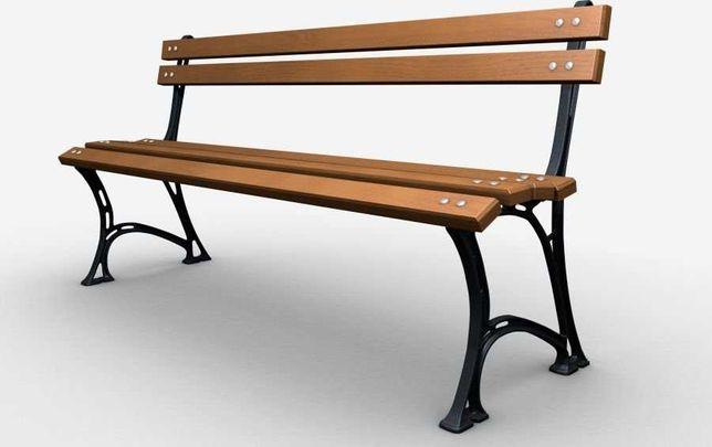 Ławka żeliwna ogrodowa, parkowa na taras id.0119