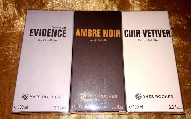 Ambre noir,Cuir vetiver,Evidence,Bois de sauge Yves Rocher Ив Роше
