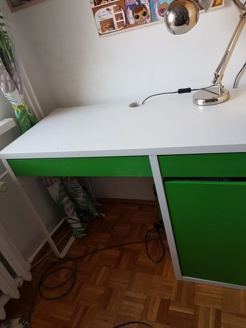 Biurko IKEA biało-zielone