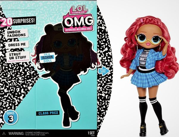 Кукла L.O.L. Surprise OMG Series 3 Class Prez Fashion Dol ЛОЛ Отличниц