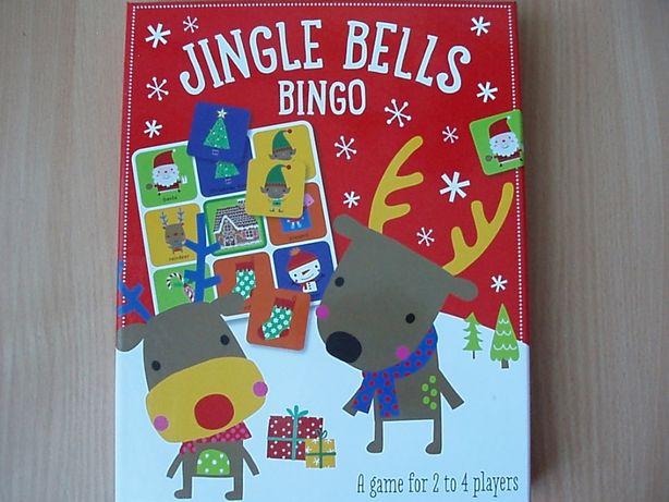 Настольная игра новогодняя бинго, лото Jingle Bells