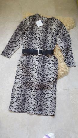 Платье трикотаж Zara анималистичный принт
