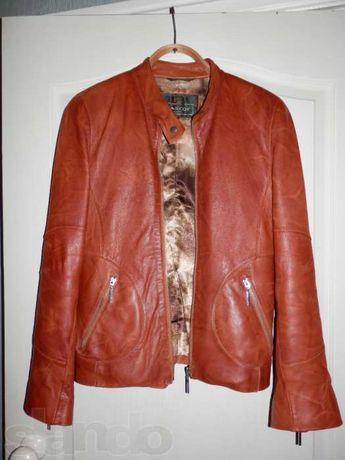 Кожаная курточка ветровка