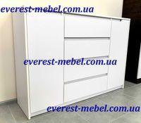 Большой белый комод Микс-3 Эверест. Доставка/Самовывоз Киев
