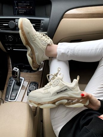 Кроссовки Balenciaga Triple S Transparent Crystal 36-45 Наложка!