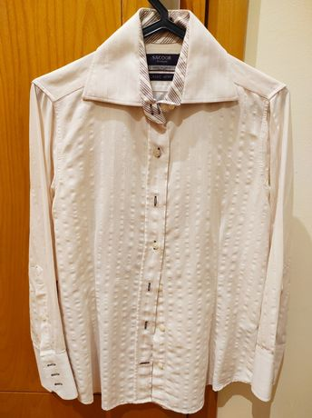 Camisa rosa/branco Sacoor TAM 36/38
