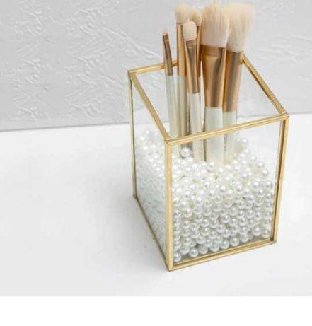 Organizador de vidro e dourado ** Envio Grátis **