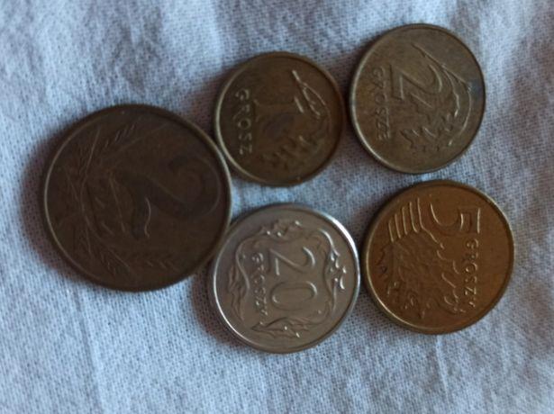 1, 2, 5, 20 groszy, 2 злотых Польша