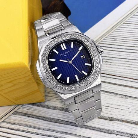 Zegarek Patek Philippe 8001 Silver-Blue