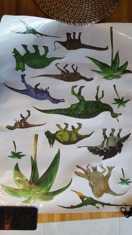 Zestaw naklejek dinozaurów 50x70