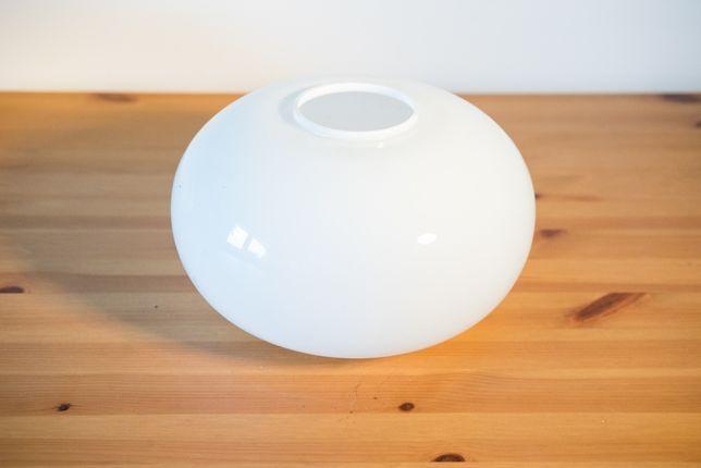 Biały, szklany klosz do żyrandola, lampy lub kinkietu / PRL