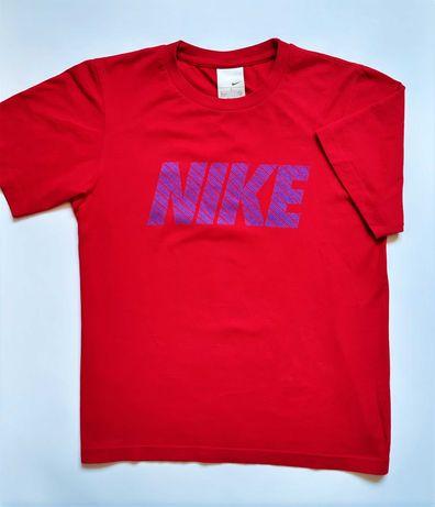 Nike Just Do It Koszulka T-shirt Czerwony Niebieski Męski 100% Bawełna