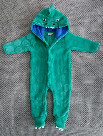 Детский флисовый комбинезон, слип дракончик Bluezoo 3-6 мес