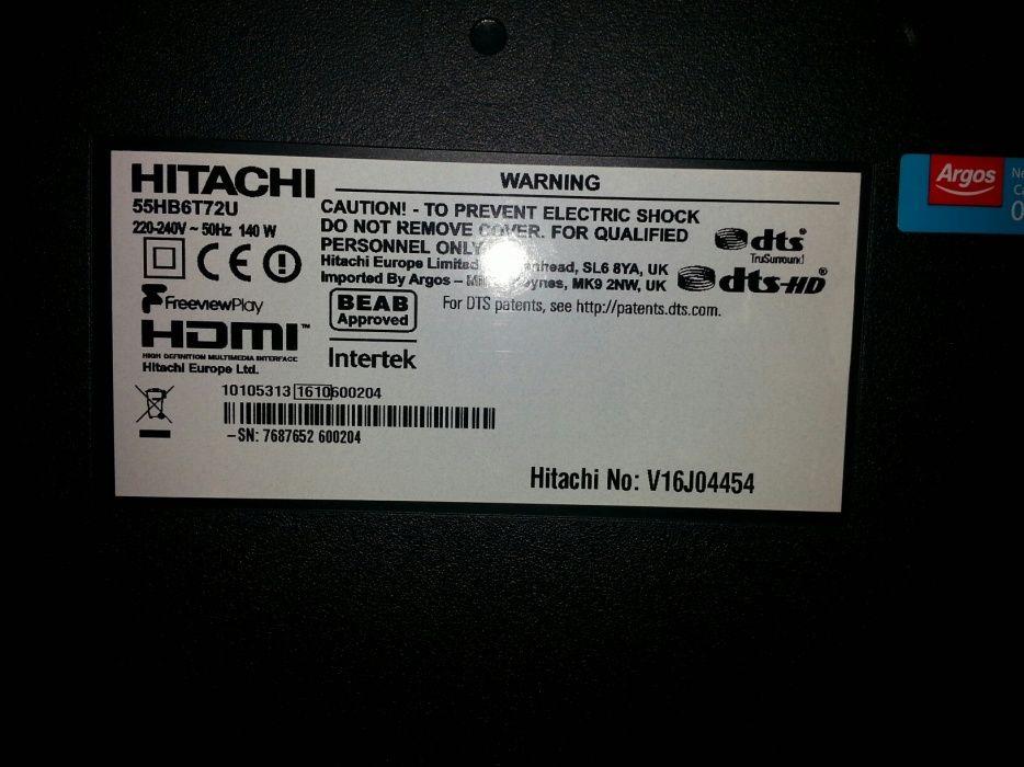 Telewizor HITACHI 55 CALI uszkodzony zbita matryca Kalisz - image 1
