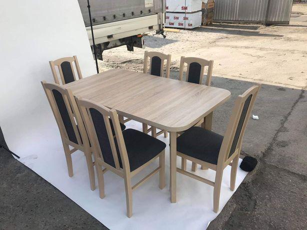 Nowe 999 zl stół rozkładany 80x140/180 + 6 krzeseł,  osiem kolorów