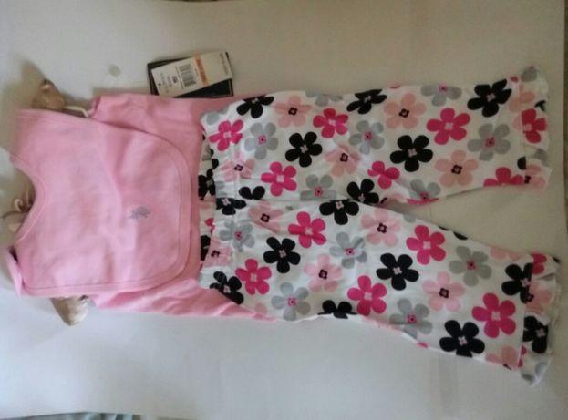Новый слюнявчик, бодик, штаны комплект бренд оригинал u.s polo assn