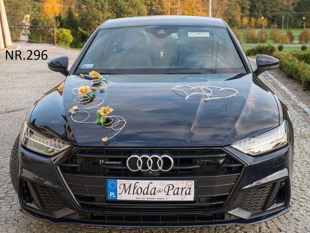 Dekoracje na samochód-dekoracja w kolorze ZŁOTYM ozdoba-ozdoby