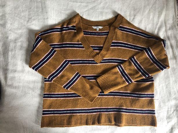 Musztardowy szeroki sweter