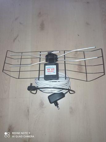 Antena pokojowa DVB z zasilaczem