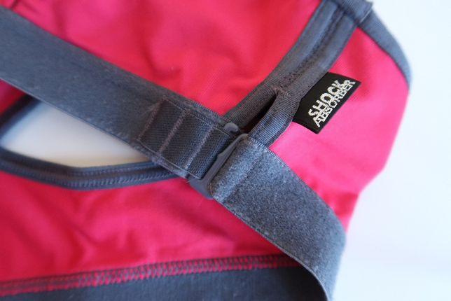 Stanik top sportowy Shock Absorber różowy amarant S 32/