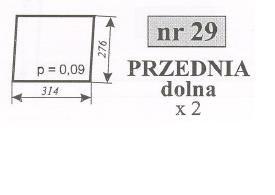 Szyby przednia dolna Ursus 912 C-385 C385 C 385 ACX165
