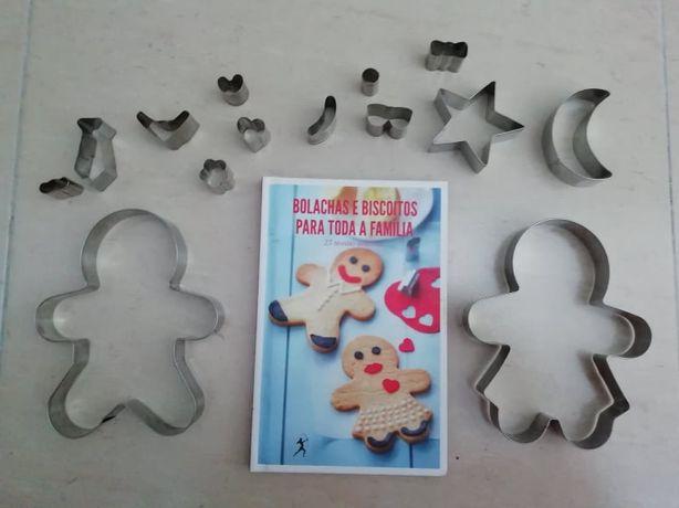 Livro + formas de biscoitos