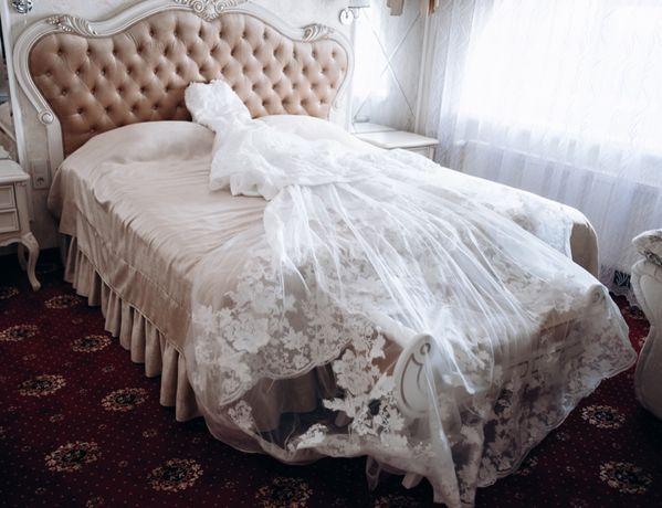 Одето только для фотосессии! Свадебное платье рыбка с длинным шлейфом