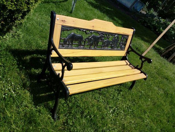 Ławka ławeczka ogrodowa dla dzieci żeliwna solidna śliczna