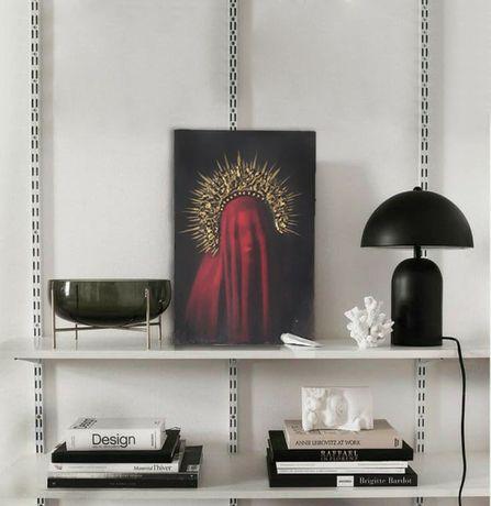 Интерьерная 3d картина портрет девушки красная вуаль