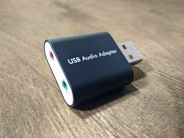 Внешняя звуковая аудио USB карта Steel Sound