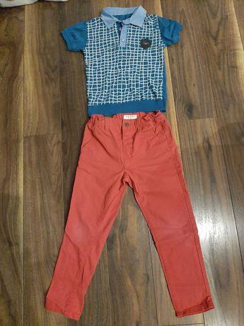 Spodnie chłopięca Reserved i koszulka polo włoskiej firmy