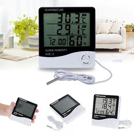 Термометр, гігрометр, годинник HTC - 2 виносний Датчик температури (Гр