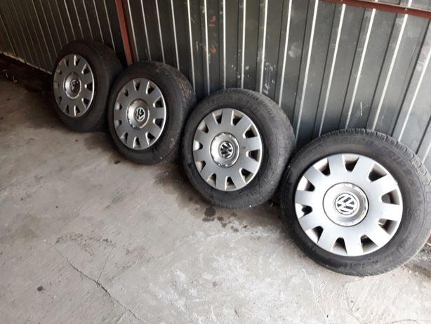 4pełne Koła 195/65 R15 5x100 z deklami do VW Audi Seat Skoda zimówki