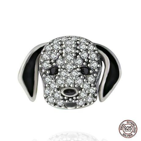 Серебряный шарм 925 подвеска собачка на браслет Pandora
