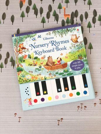 Usborne, Nursery Rhymes Keyboard book ,пианино +ноты