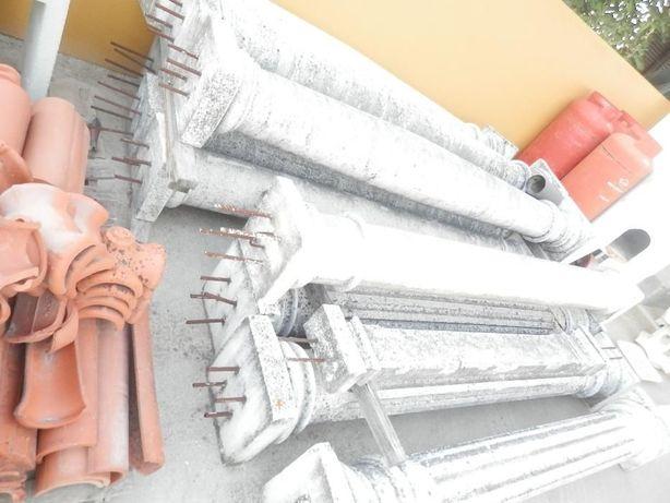 colunas em cimento armado