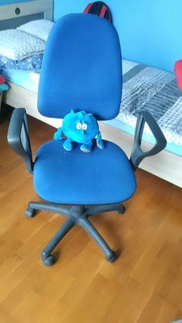 Ergonomiczne krzesło obrotowe, podłokietniki stan bdb