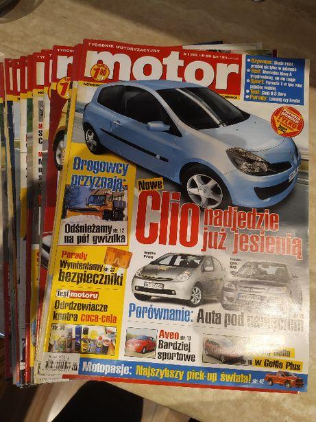 Zestaw czasopism Motor z lat 2004 - 05, razem 19 gazet, plus 3 gratisy