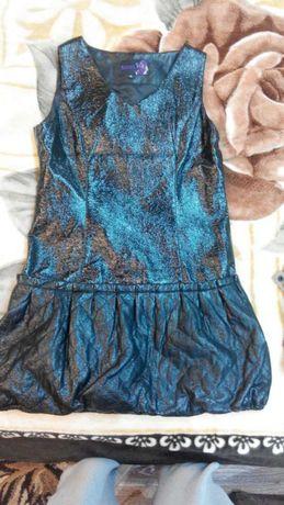 Платье - сарафан лак.кожа XL