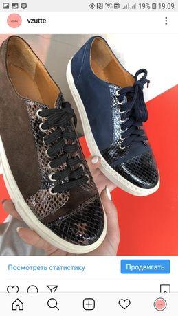 Туфли 21621-09 коричнев и синий замш vzutu instagram