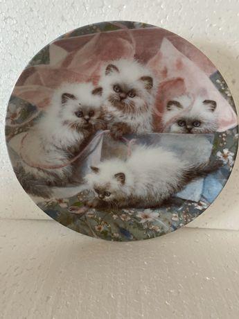 """Вінтаж: Колекційні тарілки серії """"Котячі казки Емі Брекенбері"""", США"""
