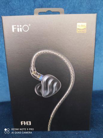 Fiio Fh3 , hybrydowe słuchawki dokanałowe