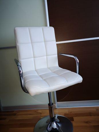 Krzesło obrotowe białe ekoskóra. Okazja! Wyprowadzka!