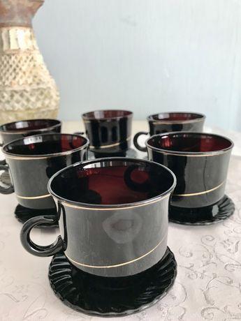 Винтажный сервиз ,ретро сезвиз чайный СССР
