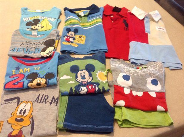 Polos, T- shirts de menino e dois conjuntos