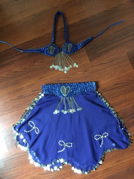 Strój tancerka niebieski