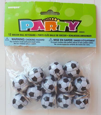 Pack com 12 porta-chaves bolas de futebol