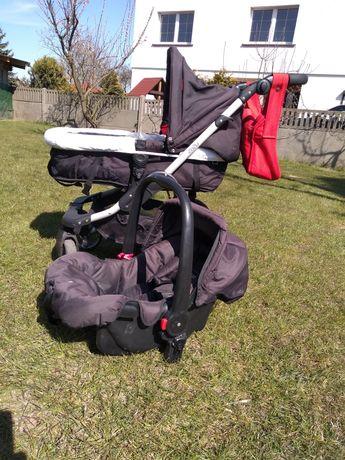 Wózek dziecięcy 3 w 1 obaby zezu głęboko spacerowy plus nosidełko