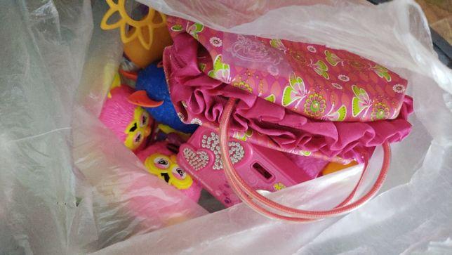 Reklamówka zabawek dla dziewczynki